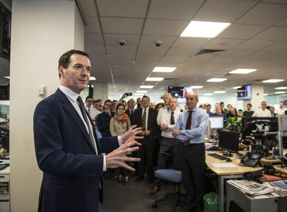 George Osborne visited the Evening Standard following his announcement to meet staff