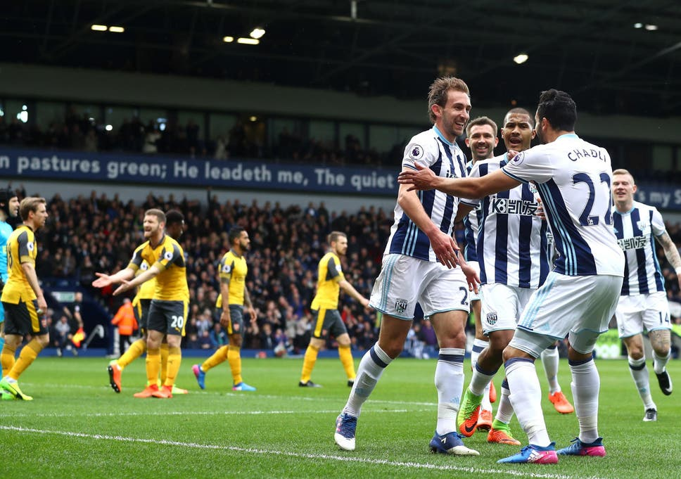 c5f633186 Craig Dawson s double for West Brom compounds Arsenal s misery as ...