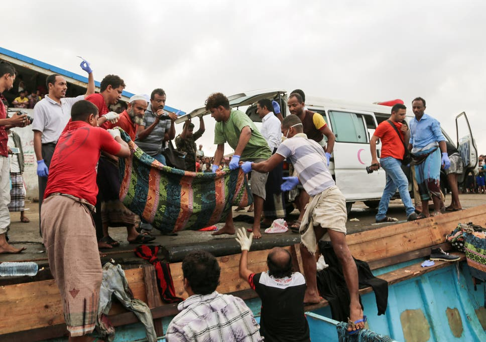 Bodies Of People Who Were Killed In A Boat Carrying Somali Refugees Arriving In The Rebel