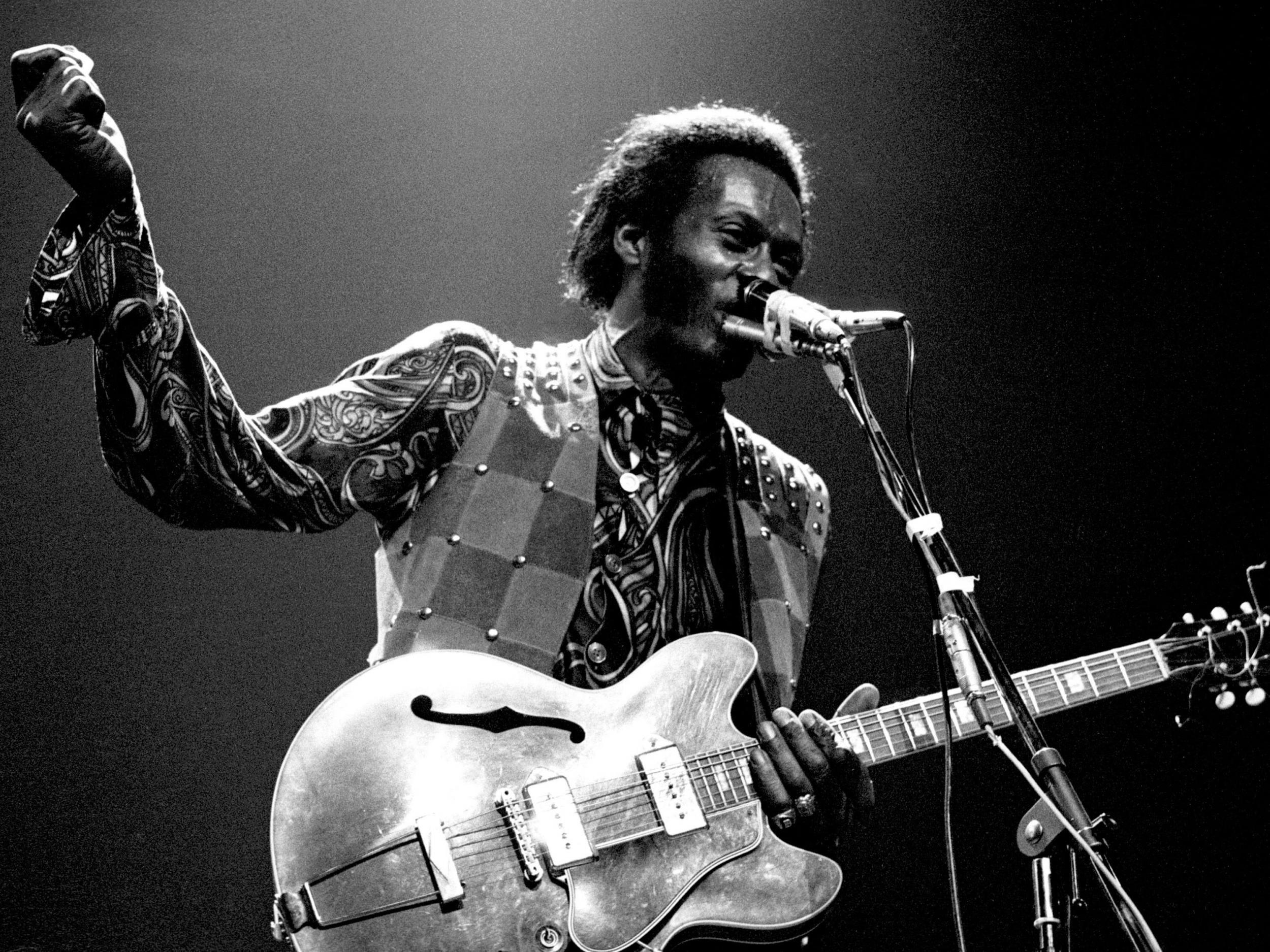 chuck berry remembered 39 there is not a rock musician alive who has failed to fall under his. Black Bedroom Furniture Sets. Home Design Ideas