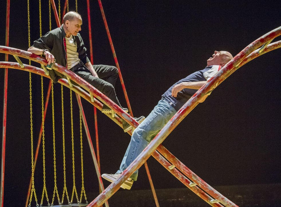 Michael Feast as Mike and Roger Sloman as Tom in 'Seventeen' at the Lyric