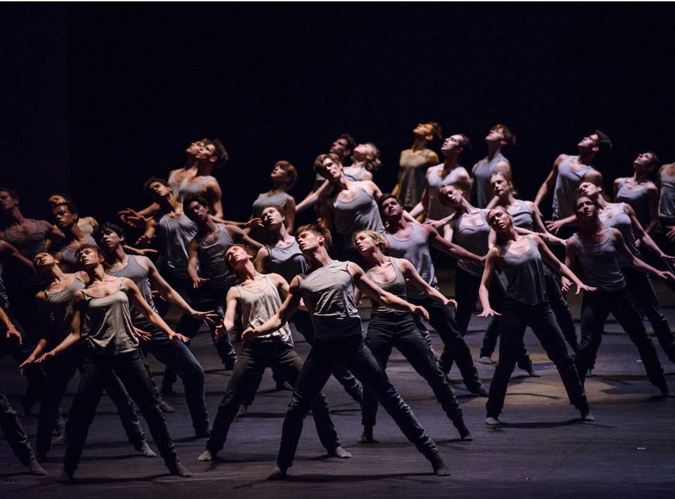 Artists of The Royal Ballet perform in Crystal Pite's 'Flight Pattern'