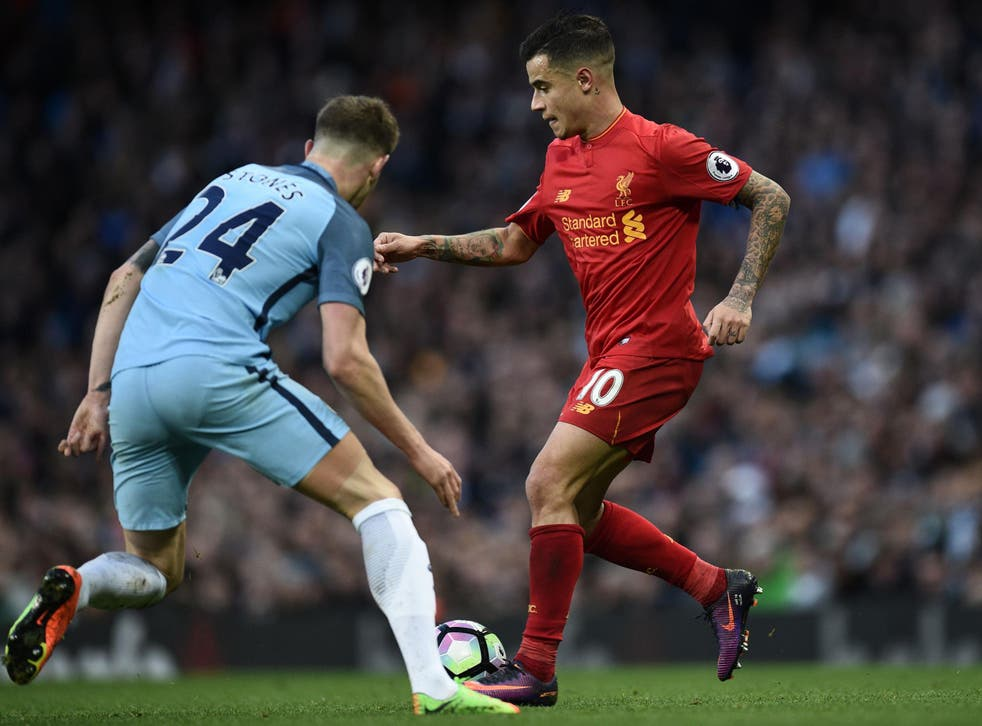 Coutinho struggled for Liverpool while Stones was vastly improved