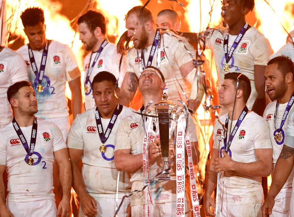 James Haskell (top centre) admitted it was difficult to celebrate after a defeat