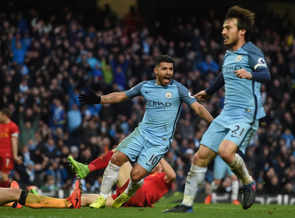 Aguero's second-half goal was enough to secure City a point