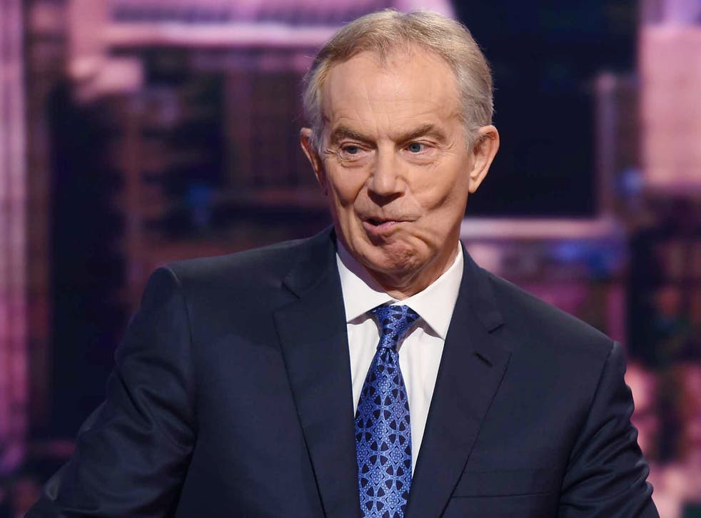 Tony Blair appearing on the Andrew Marr Show during the general election cycle