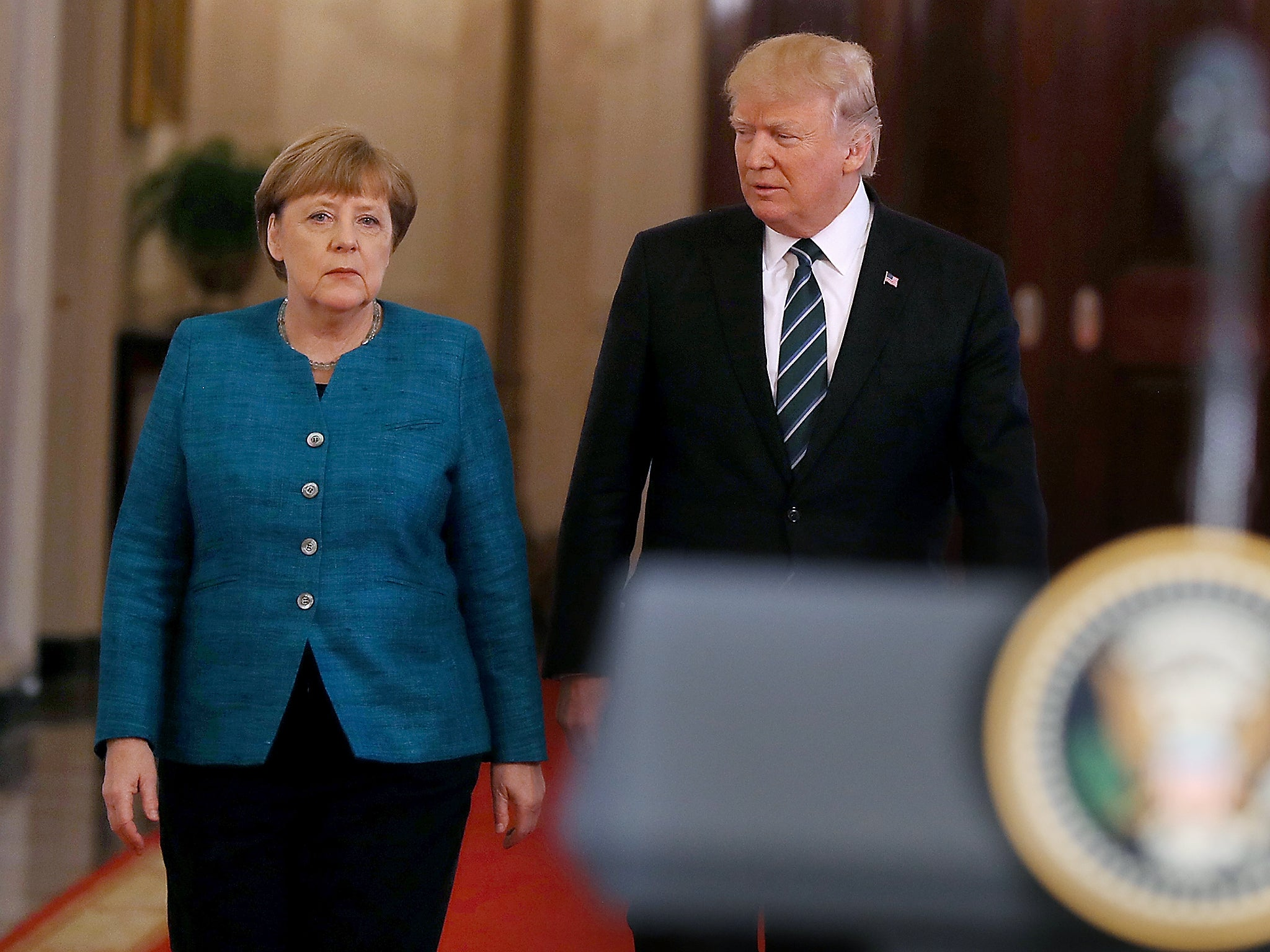 Trump printed out made-up £300bn Nato invoice and handed it to Merkel