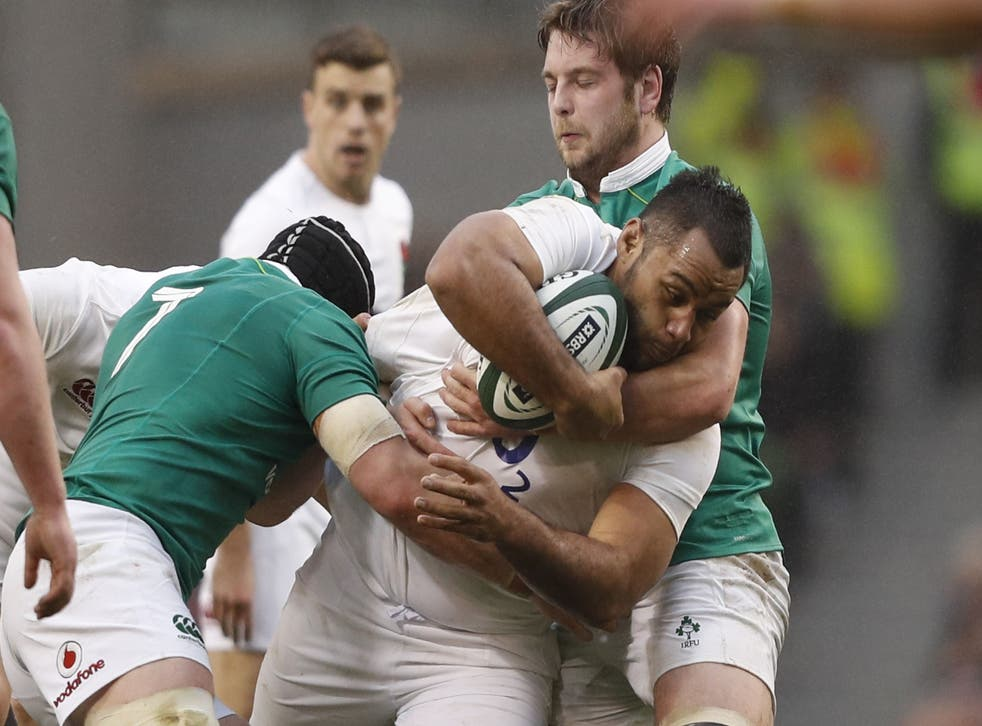 Billy Vunipola believes England were not able to adapt to the Irish choke tackle