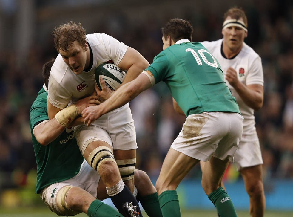 Ireland's ability to hold England players up in the tackle meant they could not build any momentum