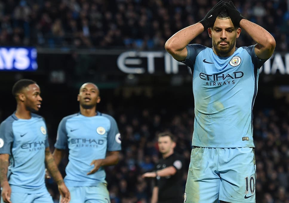 53c2a9b66 Sergio Aguero missed a simple chance to win the game for Manchester City  late on
