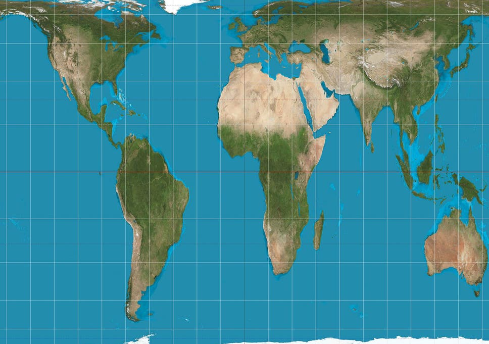 Us schools to get new world map after 500 years of colonial a gall peters projection map of the world which gives a much better picture gumiabroncs Choice Image