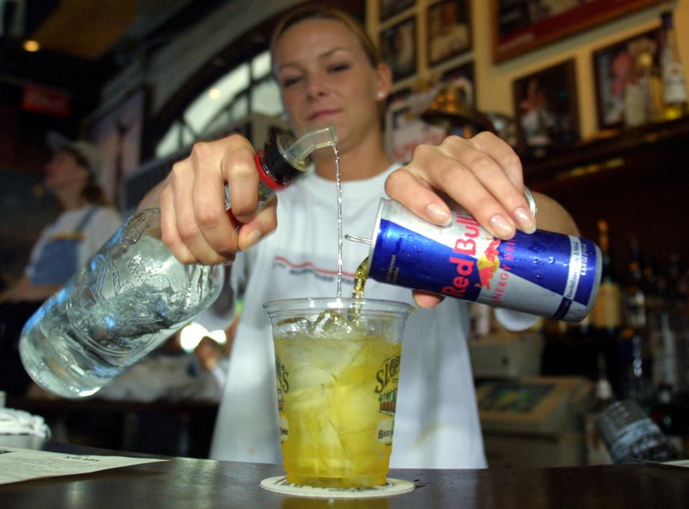 Mixing alcohol with energy drinks could heighten the risk of injury