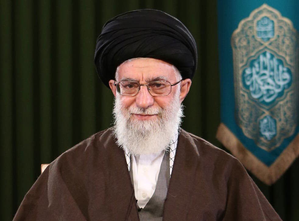 Ayatollah Ali Khamenei addressing the nation on the occasion of Nowruz, the Persian new year, in Tehran on 20 March