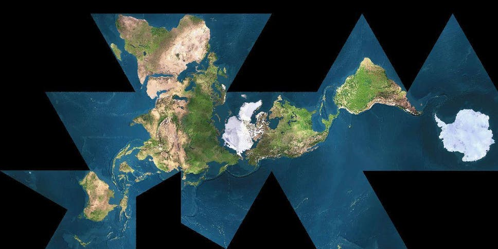 The dymaxion map a more geographically accurate world map that also traditional world maps reinforce the elements that separate humanity gumiabroncs Choice Image