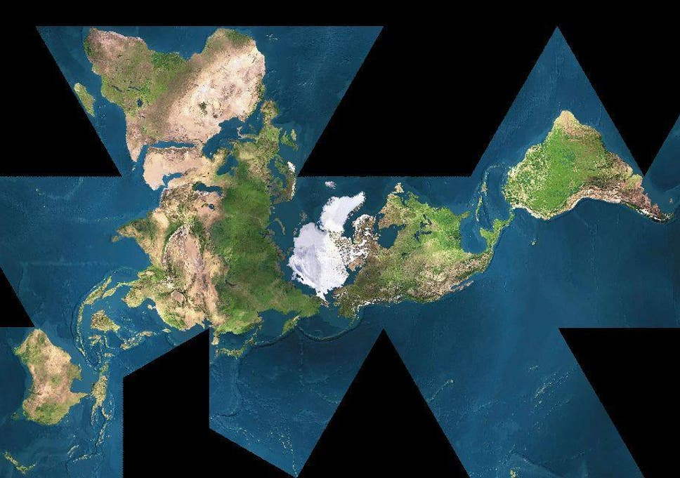 The Dymaxion map: A more geographically accurate world map that also ...