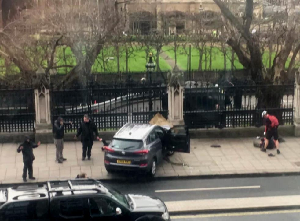 Car involved in Westminster shooting