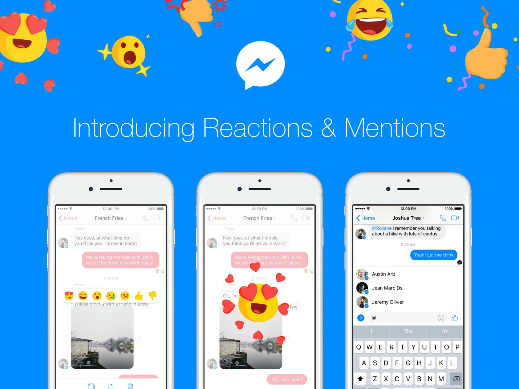 Facebook Messenger: How to use new Reactions and Mentions