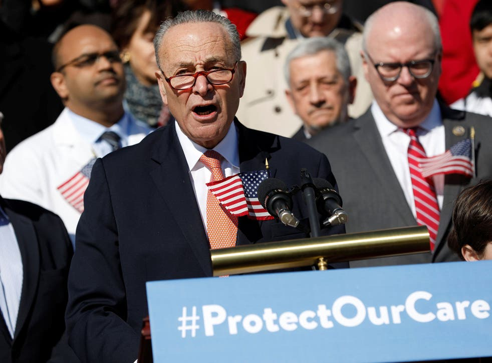Senate Minority Leader Chuck Schumer says he will not back Trump's pick for Supreme Court