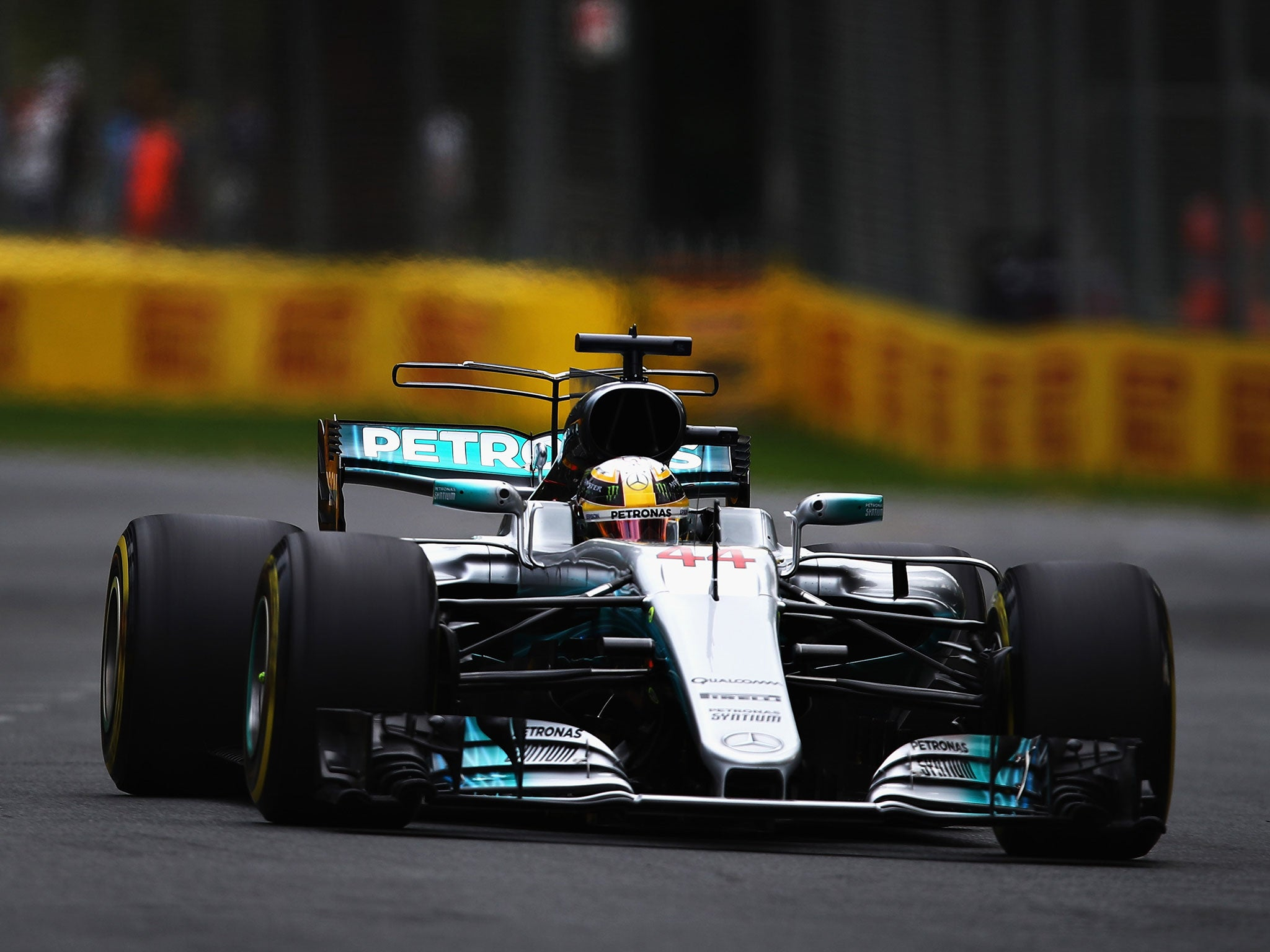 Lewis Hamilton Heads Australian Gp Practice By Half A Second Over