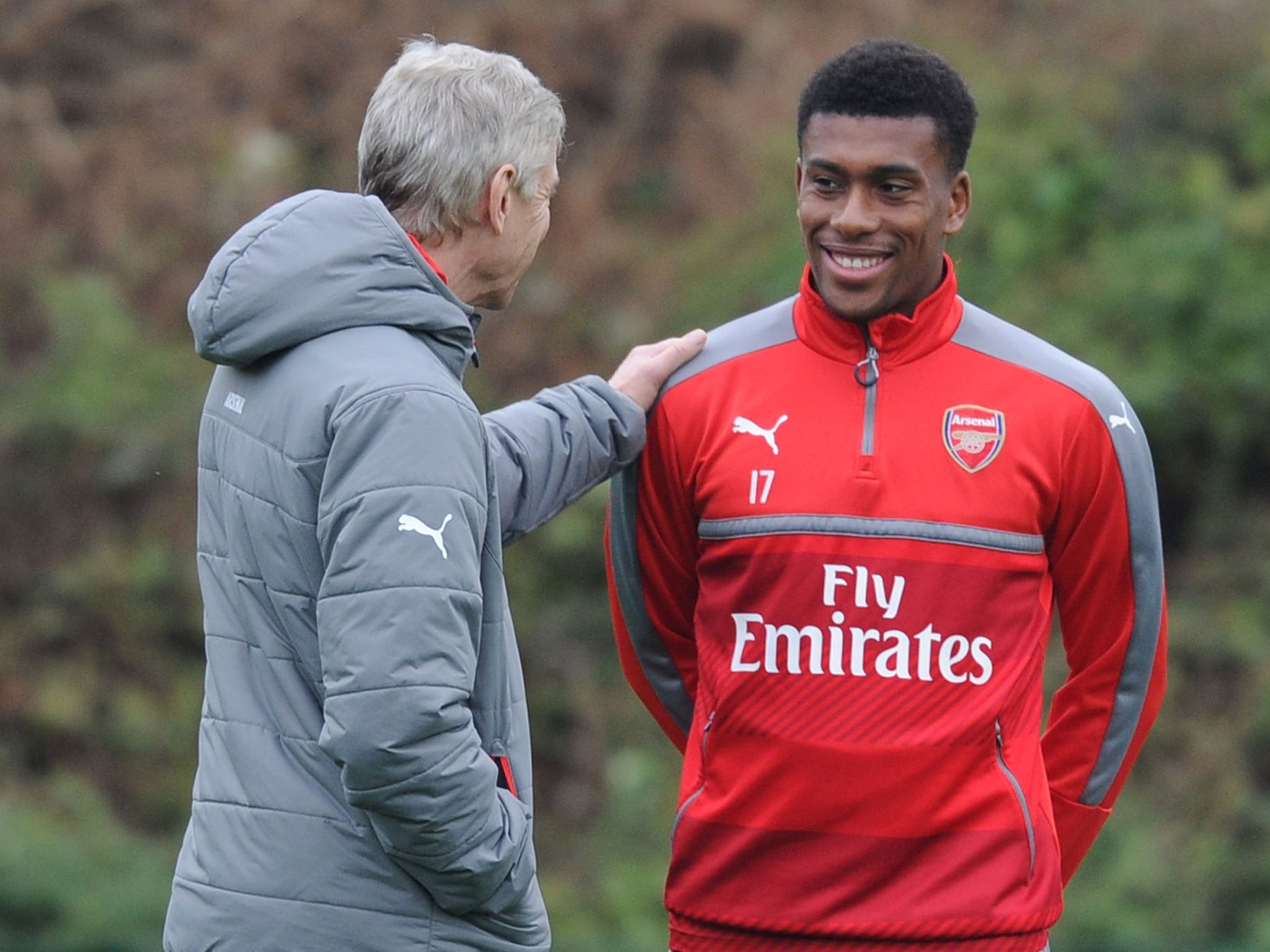 Image result for pic of iwobi and wenger together