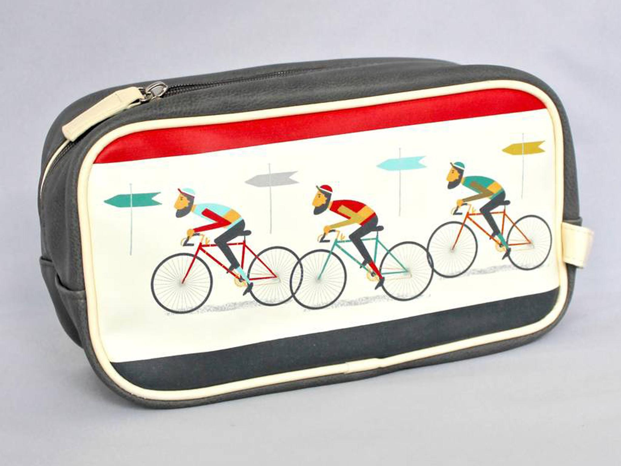 85aa487bfb38 Chapel Cards Bicycle Wash Bag  £20