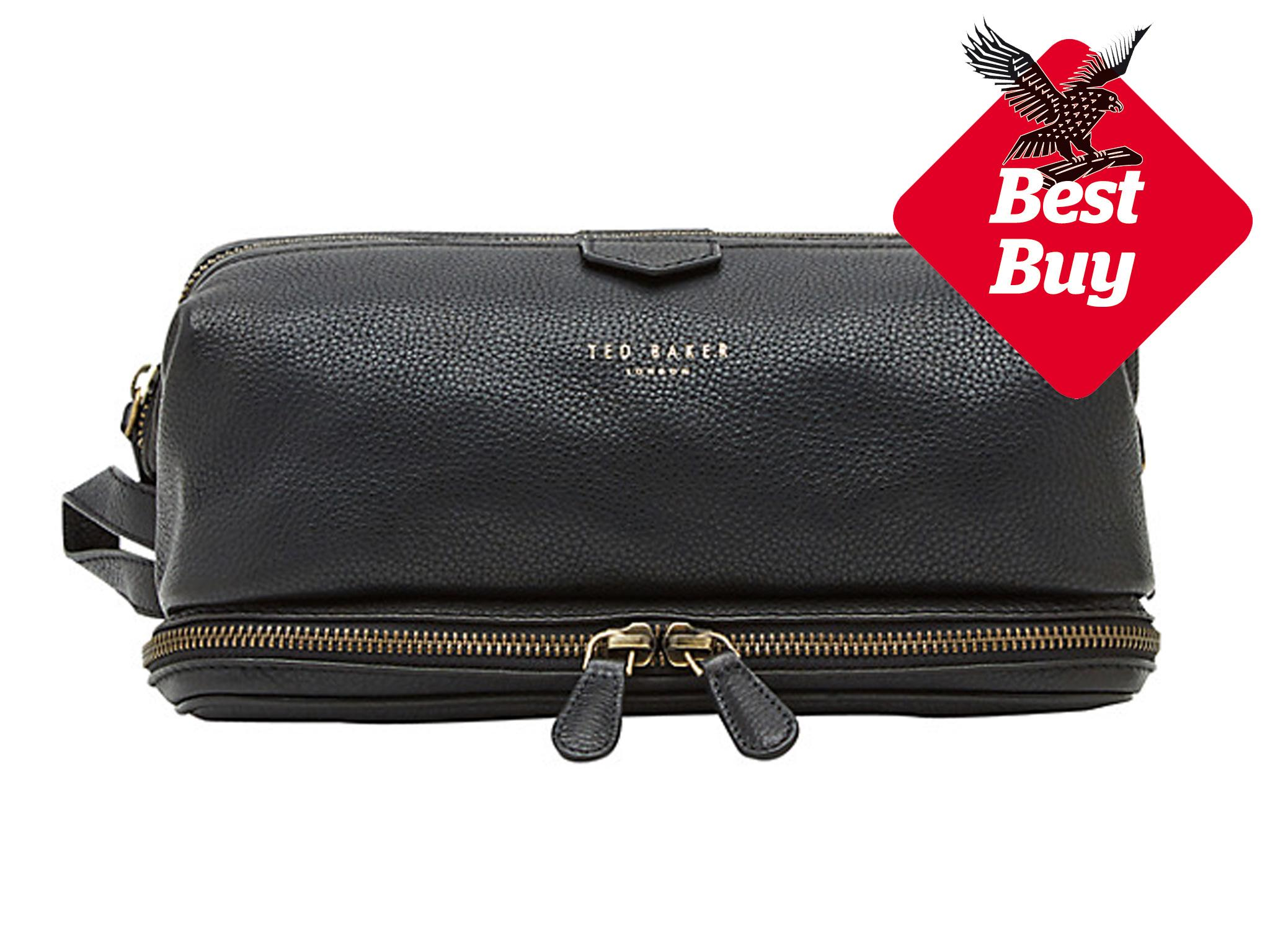 2f823a6f56 Ted Baker Lanclot Pebble Grain Leather Wash Bag  £65
