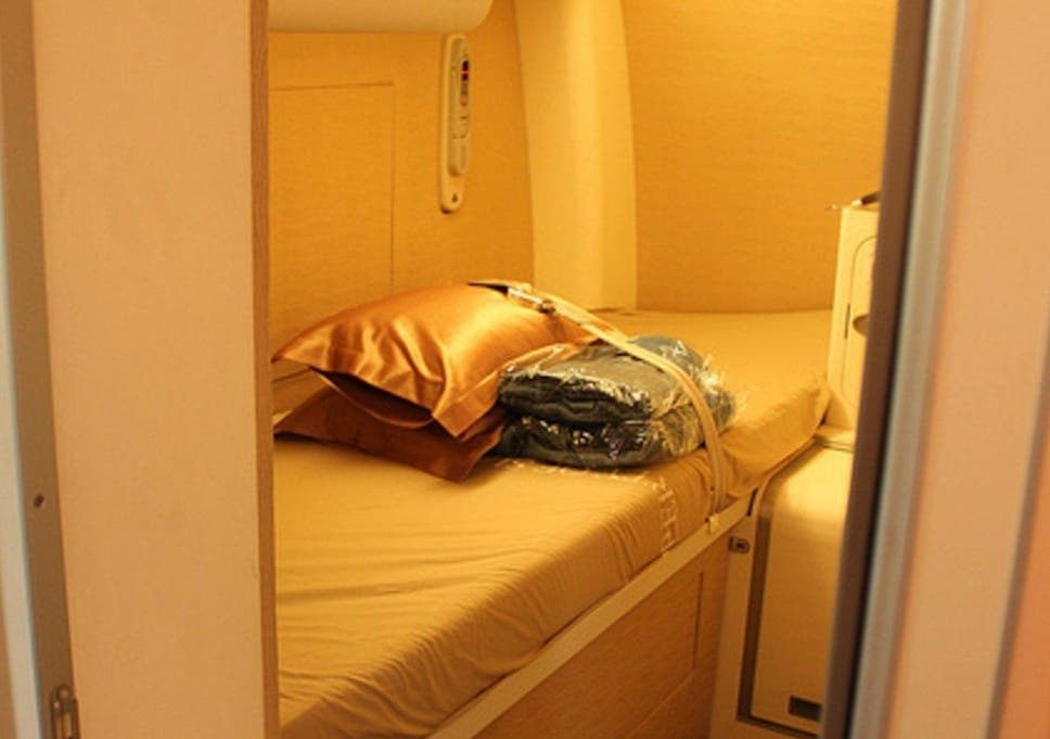 Inside the secret plane bedrooms where pilots sleep on long
