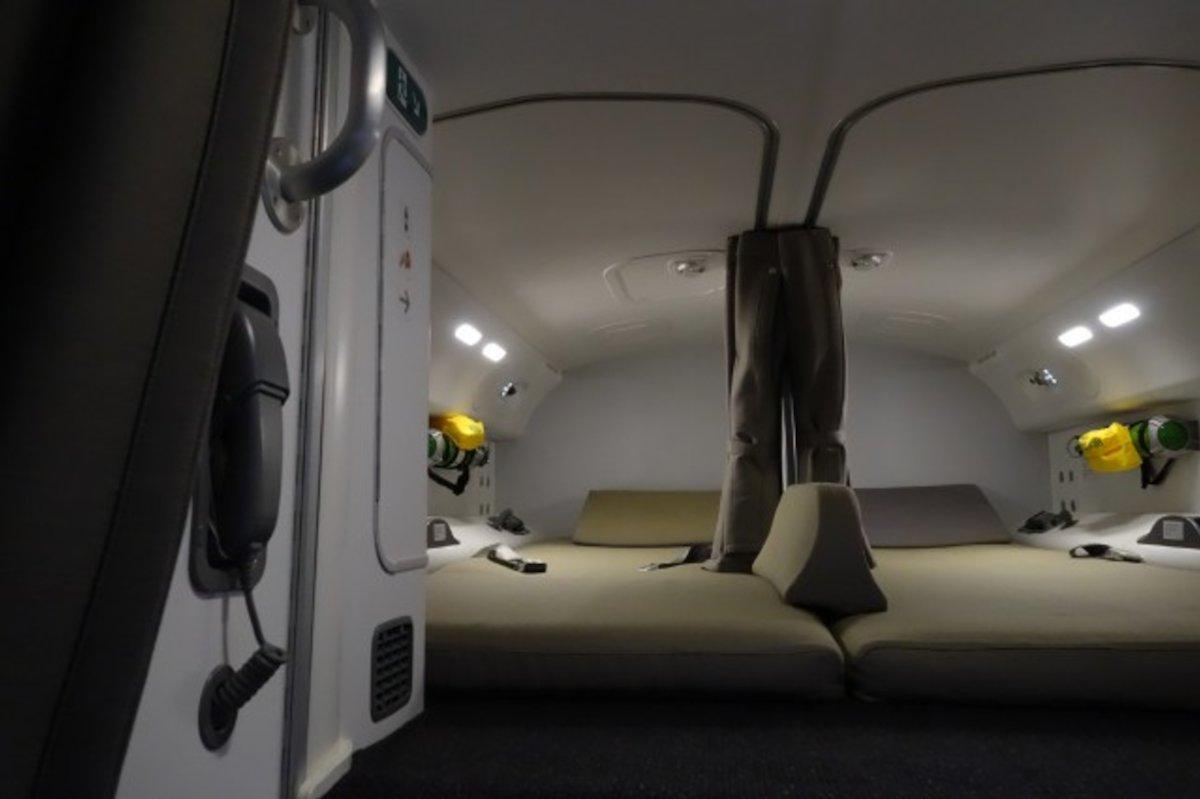 Inside the secret plane bedrooms where pilots sleep on long-haul