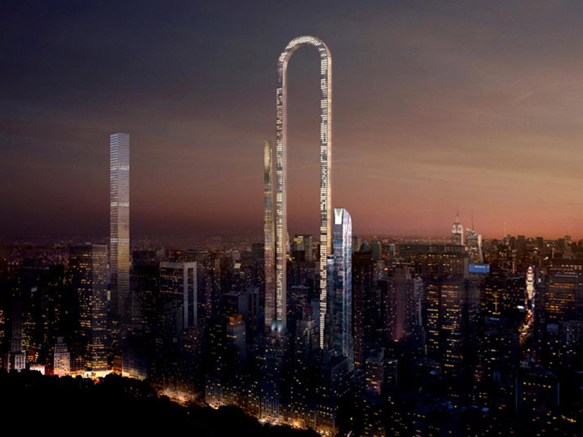 the big bend: giant u-shaped skyscraper planned for new york | the