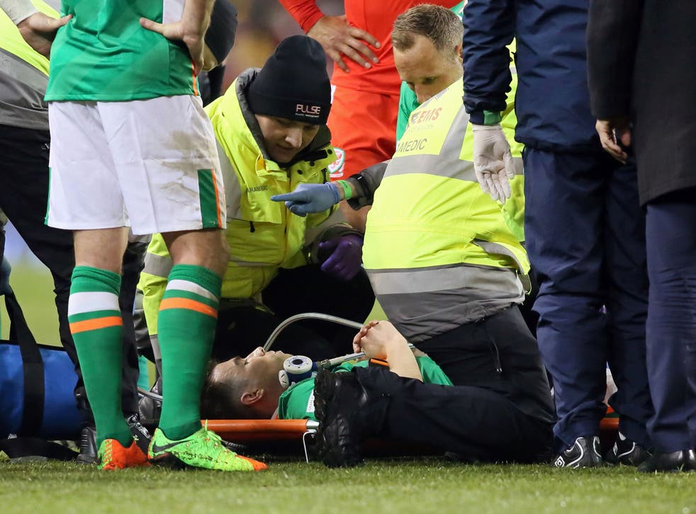 A timeframe is yet to be put on Seamus Coleman's return to football