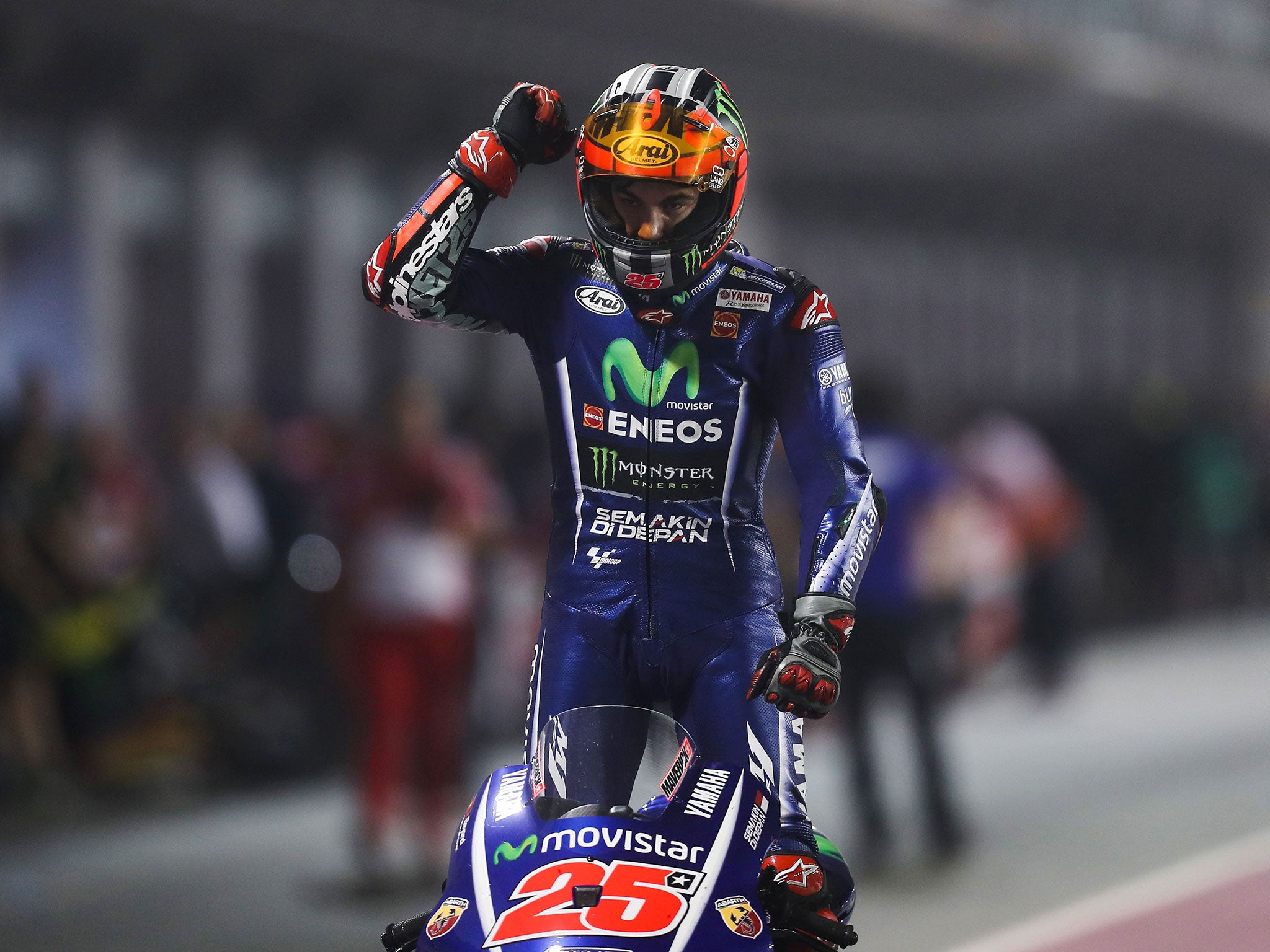 Maverick Vinales claims Qatar MotoGP victory in maiden outing with Yamaha as Valentino Rossi ...