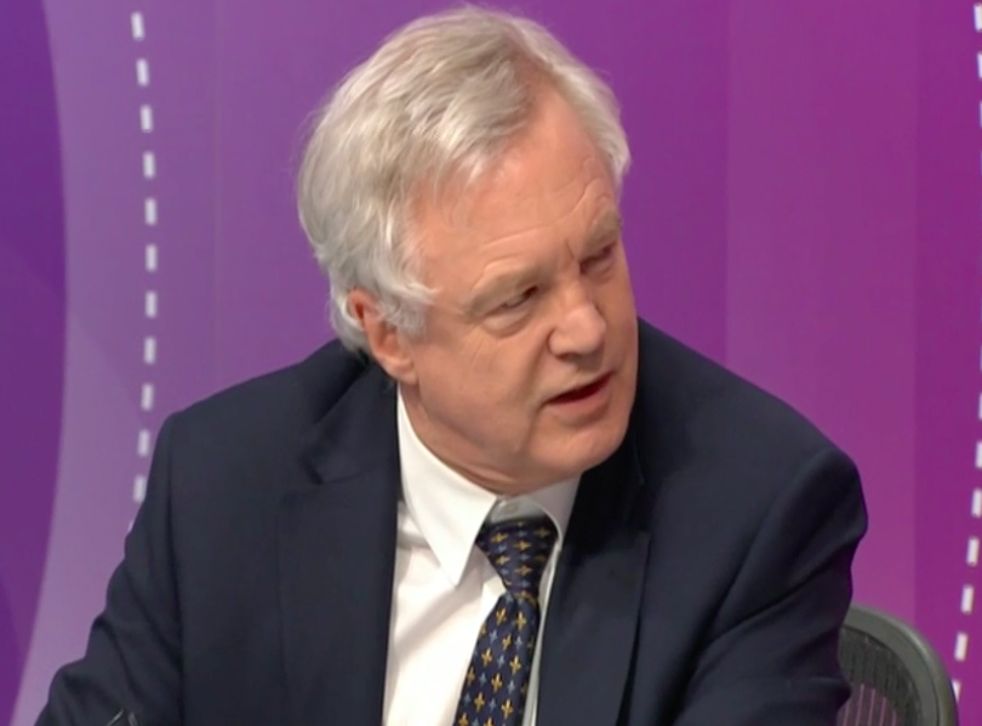 David Davis appeared on a special edition of the Question Time programme