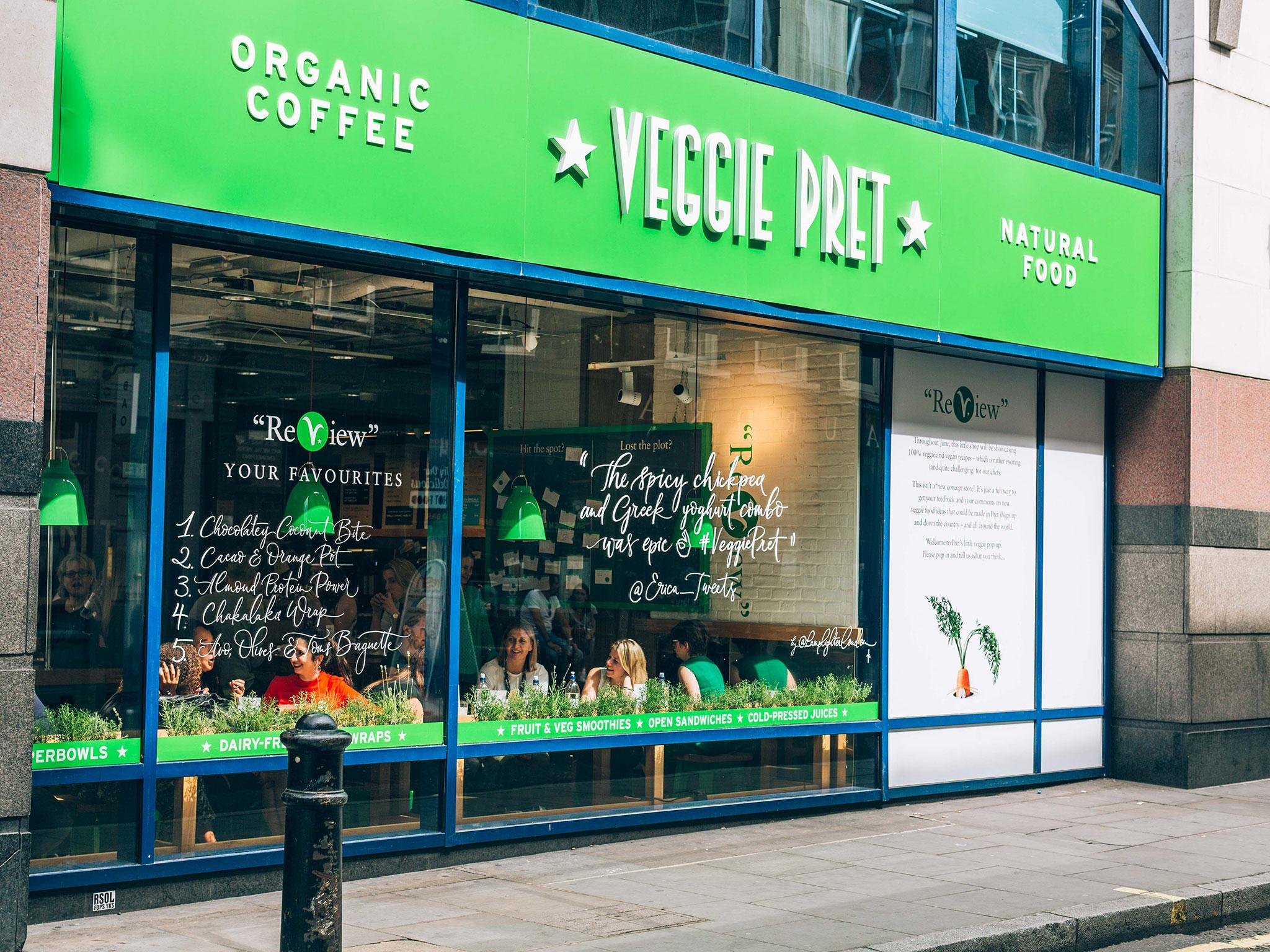 Pret a Manger is opening a vegetarian-only shop