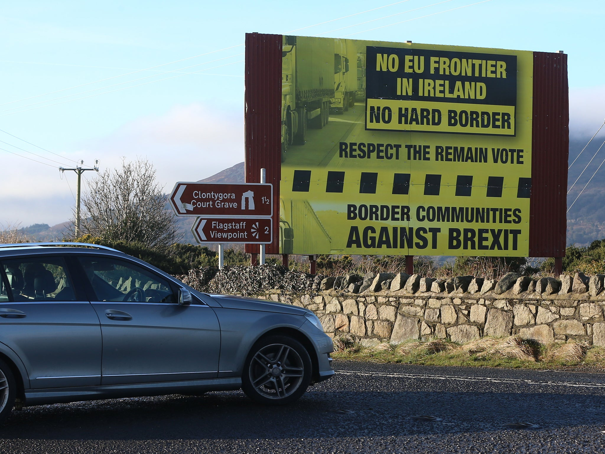 Theresa May 'to insist on Northern Ireland border checks post-Brexit' in move likely to anger the Republic