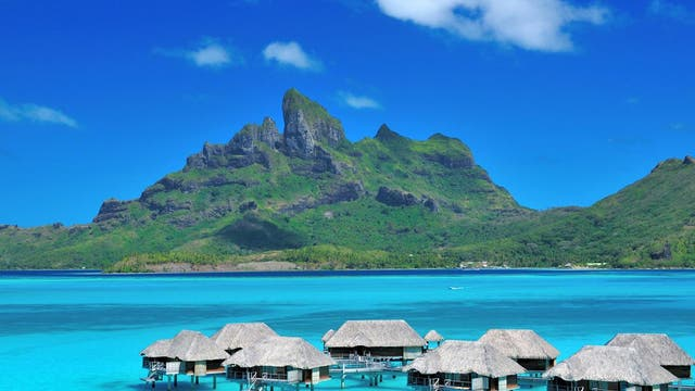 Bora Bora is textbook honeymoon territory