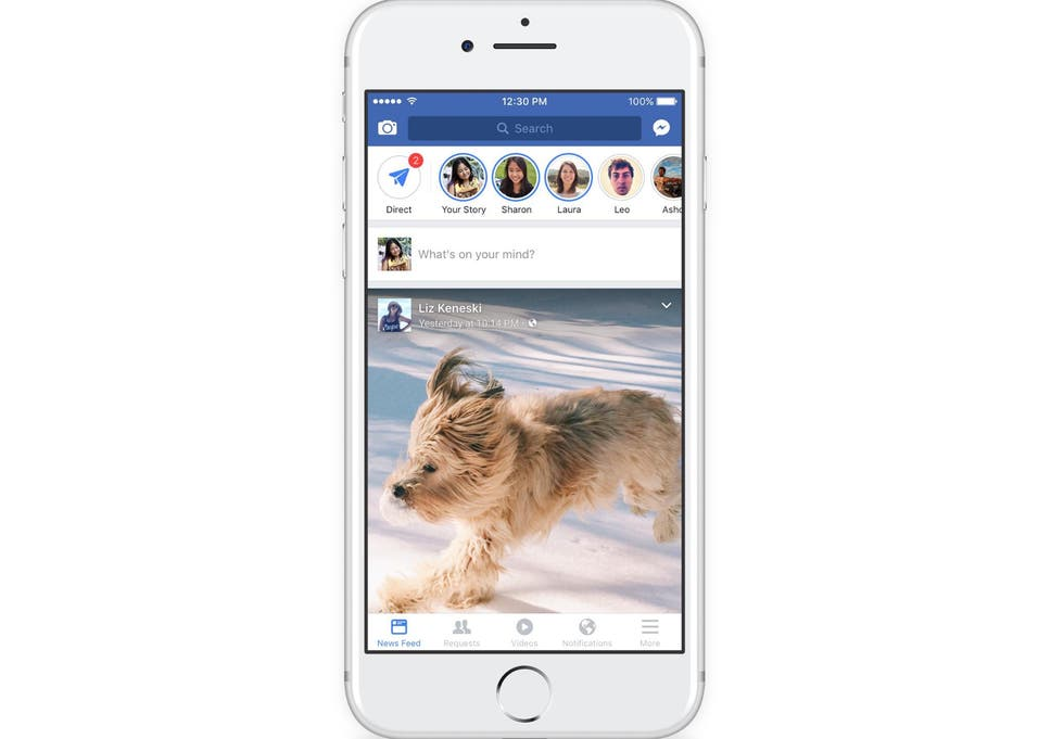 Facebook takes on Snapchat with Stories, direct feature and in-app