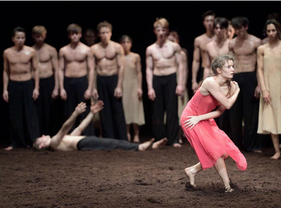 Francesca Velicu in the English National Ballet's 'Le Sacre du printemps' ('The Rite of Spring') at Sadler's Wells