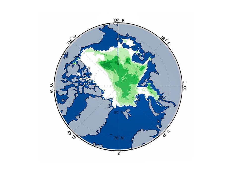 Arctic Turns Green As Sea Ice Melts To Record Low Levels The