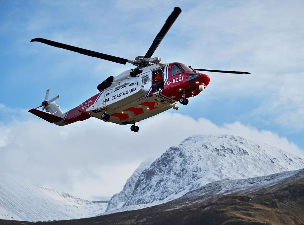 The UK Coastguard will search for the helicopter throughout the evening