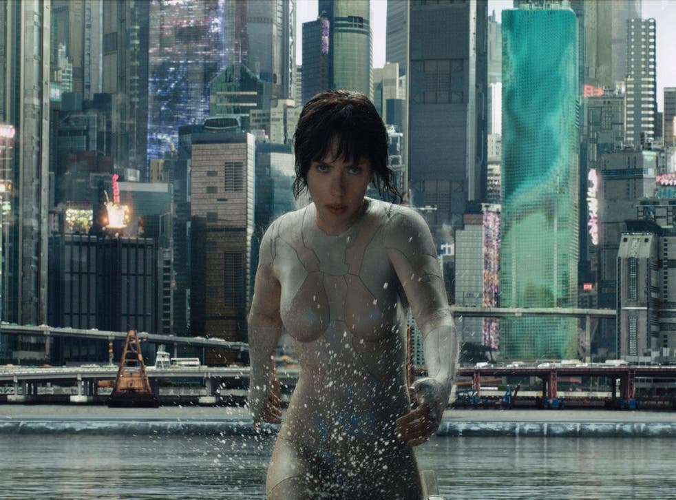 Scarlett Johansson plays Major - a cyber-enhanced human used in the fight against terrorism