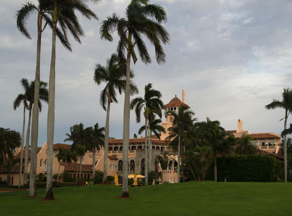 Mr Trump's Palm Beach resort could be partially submerged as water rises