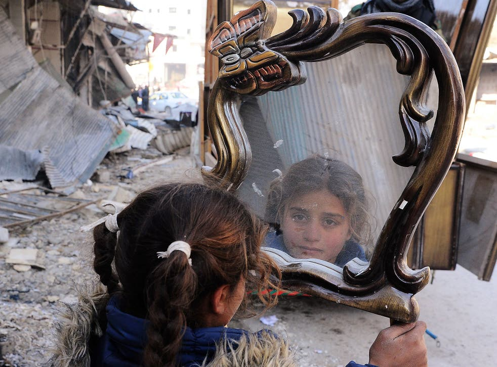 Life is beginning to return to normal in Syrian cities including Aleppo (pictured) and Homs, but reconciliation may be difficult after such a devastating conflict