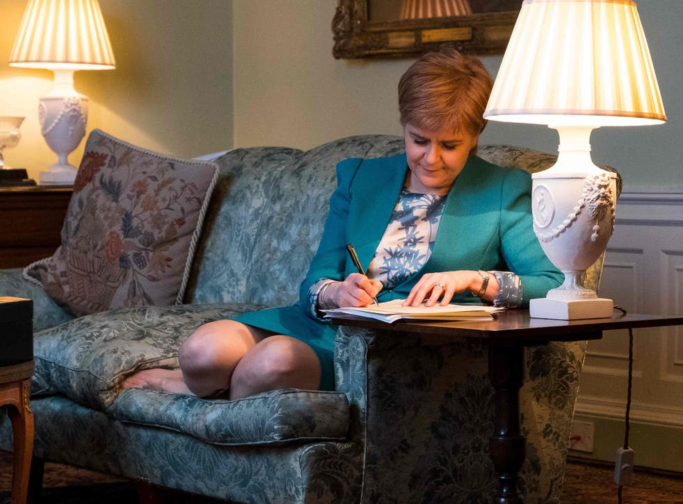 The Scottish Government tweeted this picture of its First Minister working on the Section 30 letter