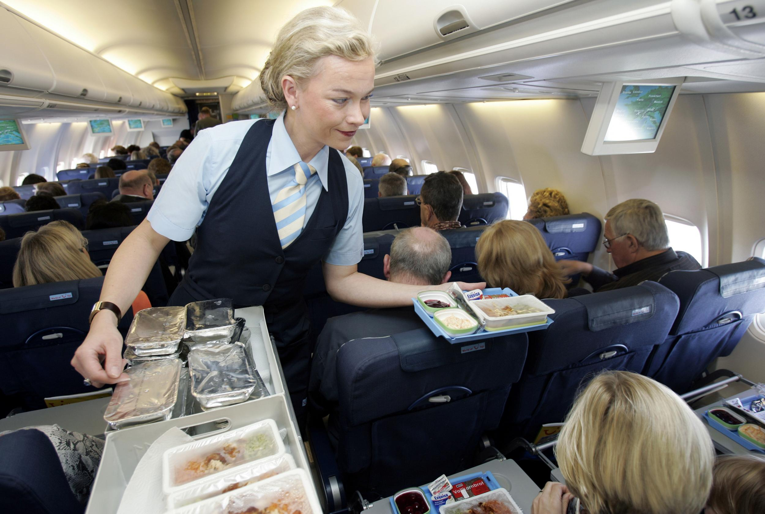 A flight attendant has a theory about 'unhealthy' airplane food like eggs and even fruit