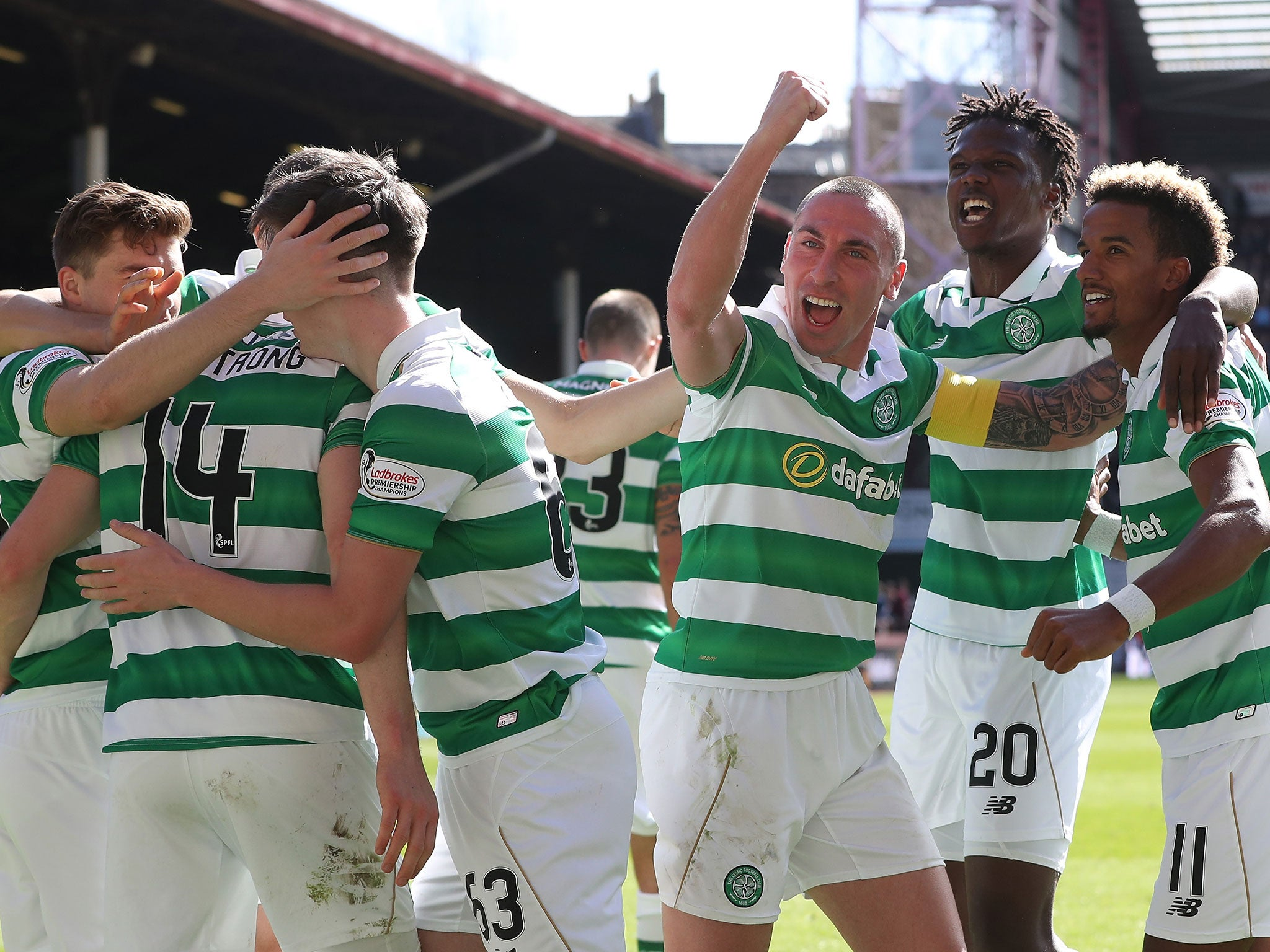 Celtic secure sixth-successive Scottish Premiership title with emphatic victory over Hearts