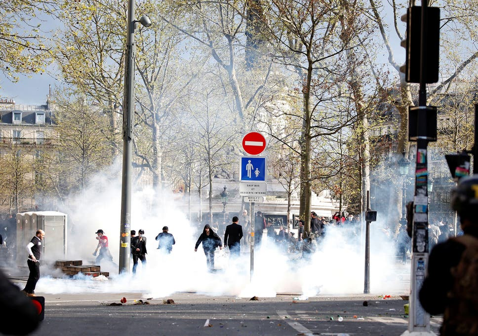 Violence Erupts During Paris Protests Demanding Justice For Chinese