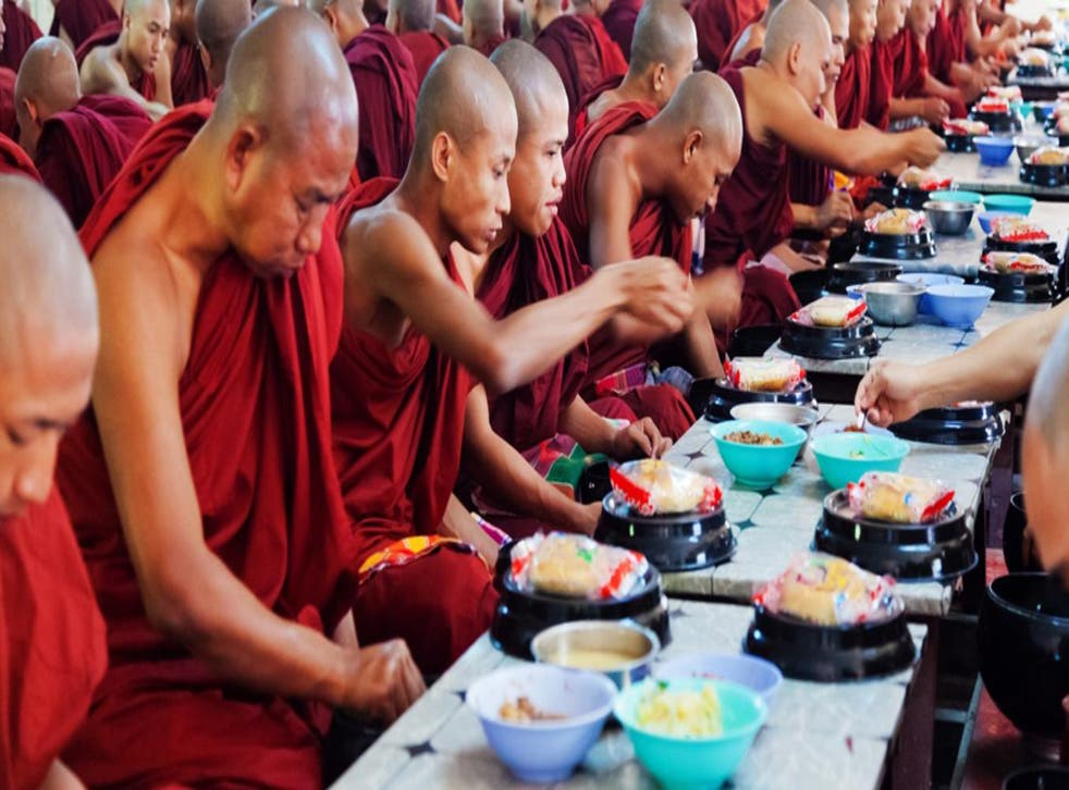 Now and zen: mindful eating, which has its roots in Buddhist teachings, is purported to have health benefits and to help practitioners change their relationship with food and hunger