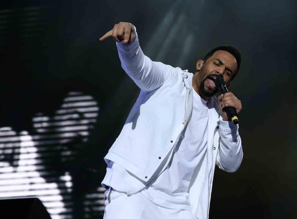 Craig David performs live on stage at the O2 Arena on March 25, 2017 in London