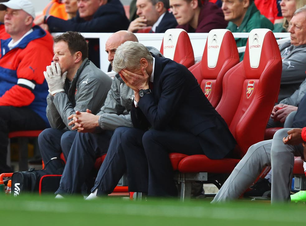Arsene Wenger's side did not emerge for the second half with a designated captain