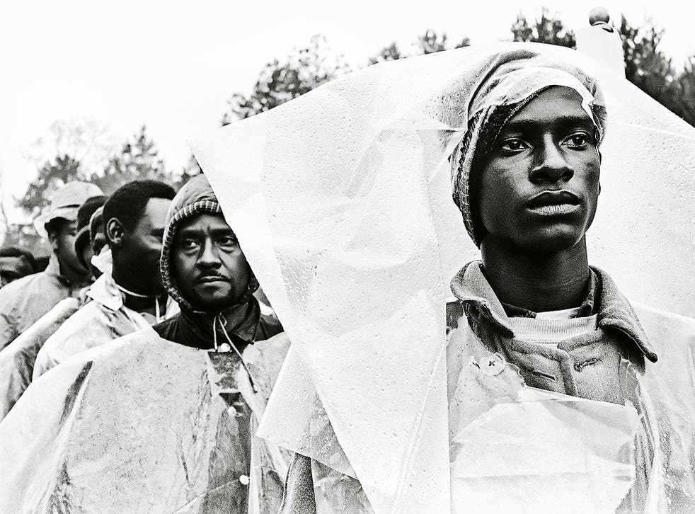 'At one point it rained, and suddenly the whole march was wrapped in plastic,' Steve Schapiro says of his time following the 54-mile Selma to Montgomery March in 1965
